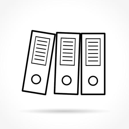 coordinated: Illustration of binders thin line icon design