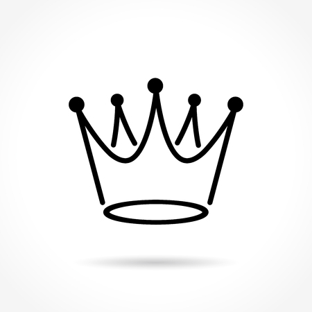 royal person: Illustration of crowned thin line icon design