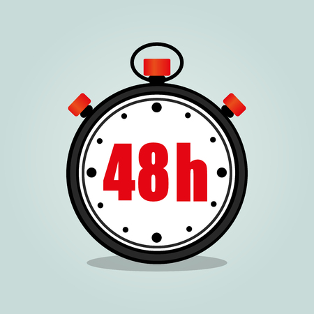 Illustration of forty eight hours stopwatch isolated icon Vektorové ilustrace