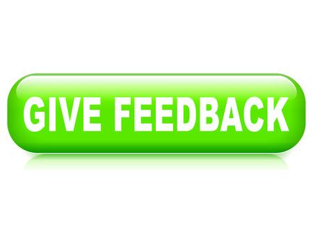 feedback button: Illustration of give feedback button on white background Illustration