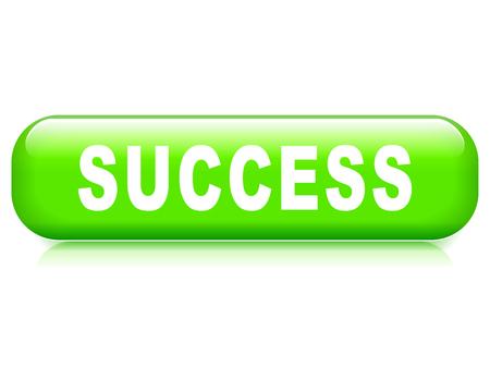 Illustration of success button on white background Illustration