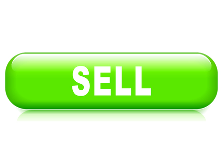 sell: Illustration of sell button on white background