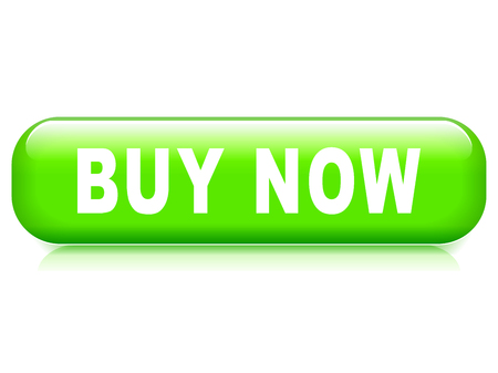 Illustration of buy now button on white background Vetores