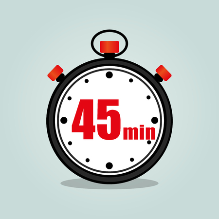 Illustration of forty five stopwatch isolated icon
