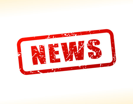 Illustration of news text buffered on white background