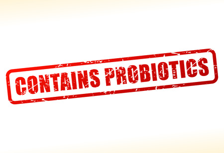 contains: Illustration of contains probiotics text buffered on white background Illustration