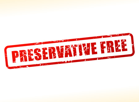 preservative: Illustration of preservative free text buffered on white background