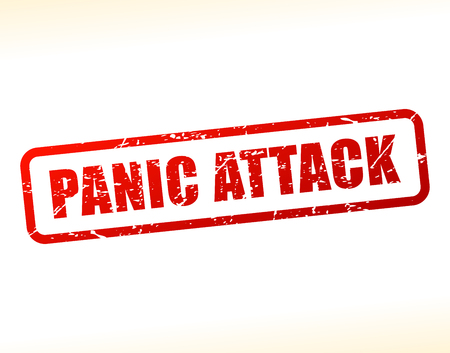 panic attack: Illustration of panic attack text buffered on white background