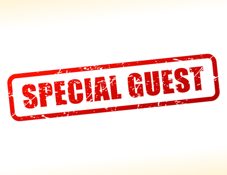 guest: Illustration of special guest text buffered on white background Illustration
