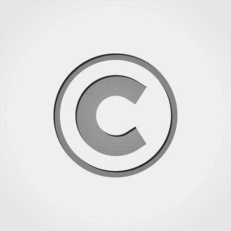 copyright: Illustration of copyright grey icon