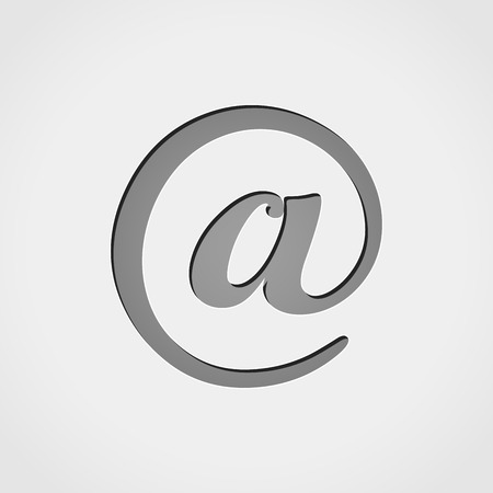 arroba: Illustration of email grey icon