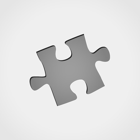 Illustration of jigsaw puzzle piece grey icon
