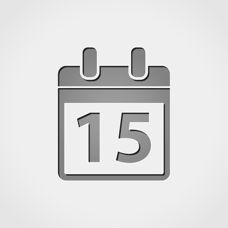 appointments: Illustration of calendar grey icon Illustration