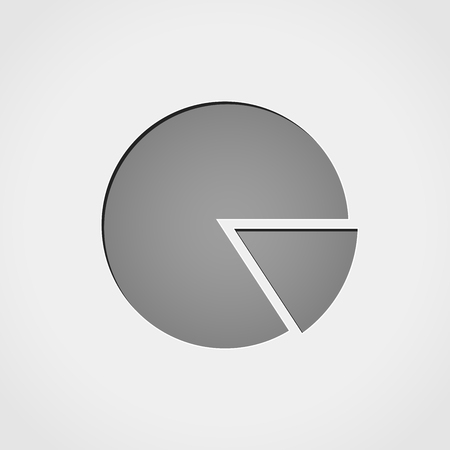 Illustration of financial pie grey icon