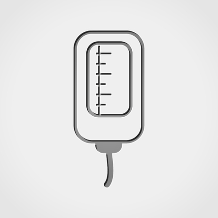 infusion: Illustration of infusion bag grey icon