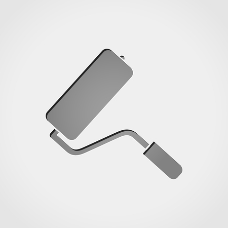 paintroller: Illustration of paintroller grey icon
