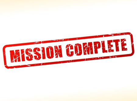 accomplish: Illustration of mission complete text stamp Illustration