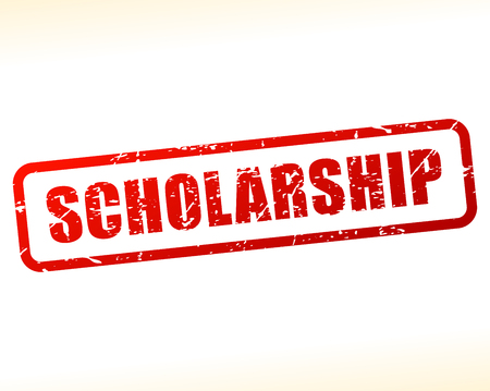 scholarship: Illustration of scholarship text stamp
