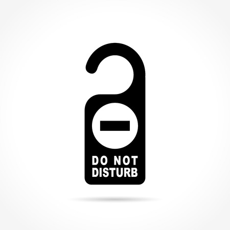 don't: Illustration of do not disturb icon on white background Illustration