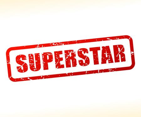superstar: Illustration of superstar text stamp