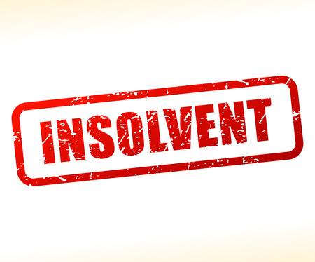 insolvent: Illustration of insolvent text stamp
