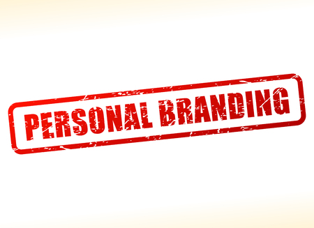 branded product: Illustration of personal branding text stamp