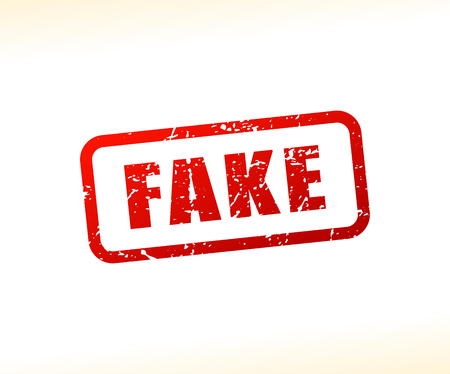 Illustration of fake text stamp Illustration