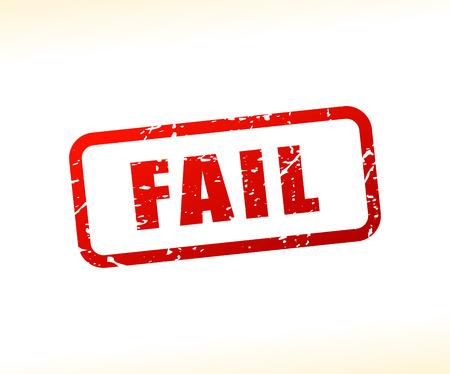 fail: Illustration of fail text stamp