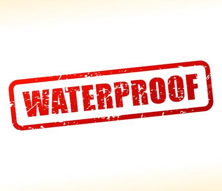 rainproof: Illustration of waterproof text stamp Illustration