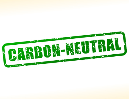 neutrality: Illustration of carbon neutral text stamp Illustration
