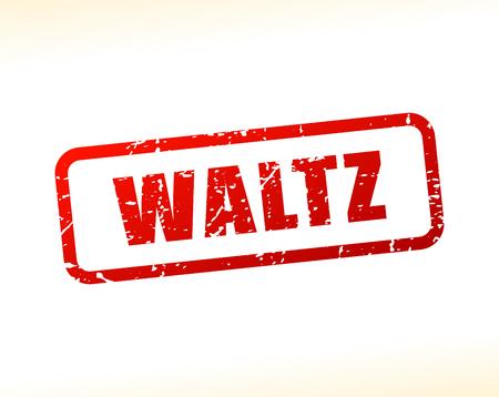 waltz: Illustration of waltz text stamp