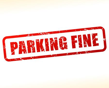 赤文字スタンプを駐車場のイラスト