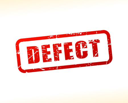 Illustration of defect red text stamp