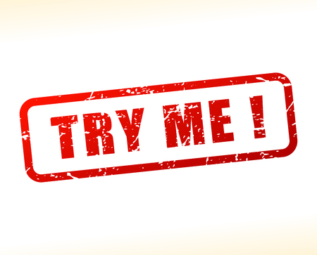 Illustration of try me red text stamp