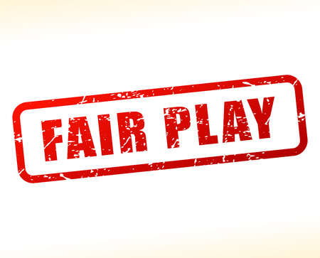 Illustration of fair play red text stamp Illustration