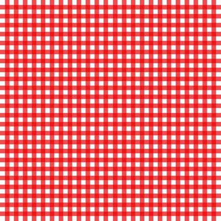 gingham: Illustration of red gingham design Illustration