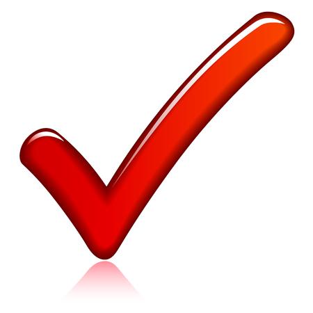 confirmed: Illustration of red check mark design