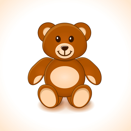 Illustration of brown teddy bear