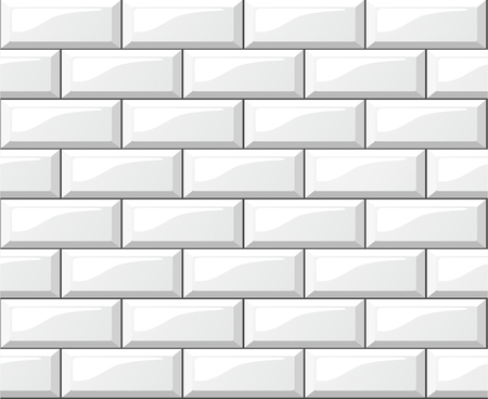 Illustration of white tiles background Ilustração