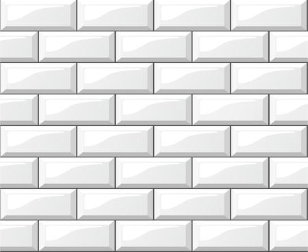 Illustration of white tiles background Vettoriali