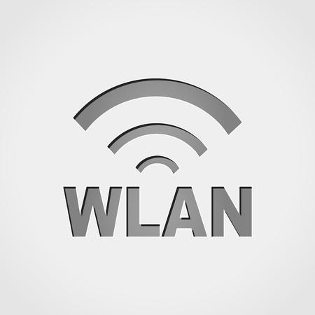 Illustration of wlan icon design