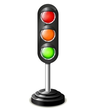 Illustration of traffic lights concept