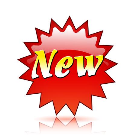 Illustration of new red star icon Illustration
