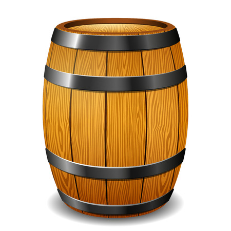 Illustration of barrel on white background