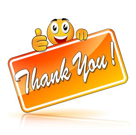 Illustration of thank you emoji concept