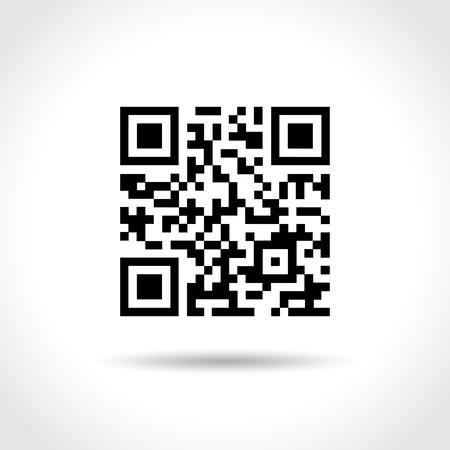 qrcode: Illustration of qr code on white background Illustration