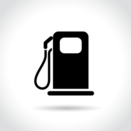 Illustration of fuel icon on white background
