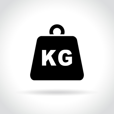 Illustration of weight icon on white background
