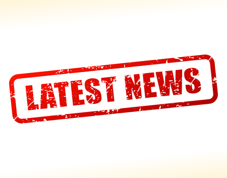 Illustration of latest news text buffered on white background Çizim