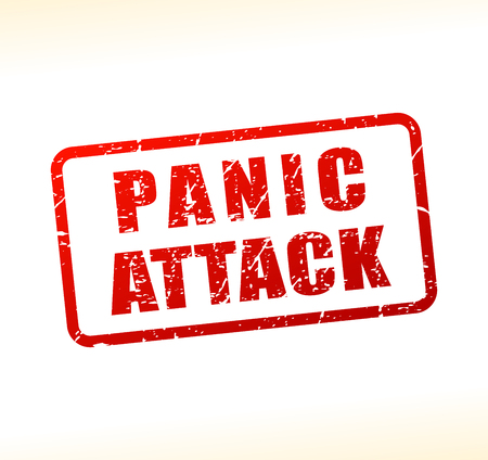 Illustration of panic attack text buffered on white background